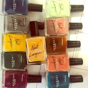 11 American Apparel nail polishes.